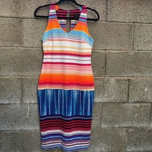Worthington Sheath Colorful Chic Mid Dress Size 4